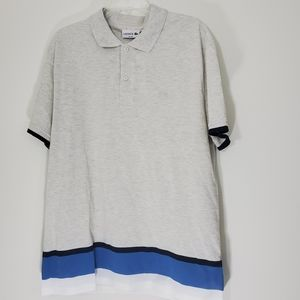 NWT Lacoste slim fit grey polo style shirt size XL